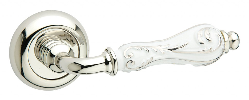 147P -231c polished chrome -white ceramic with silver stripes